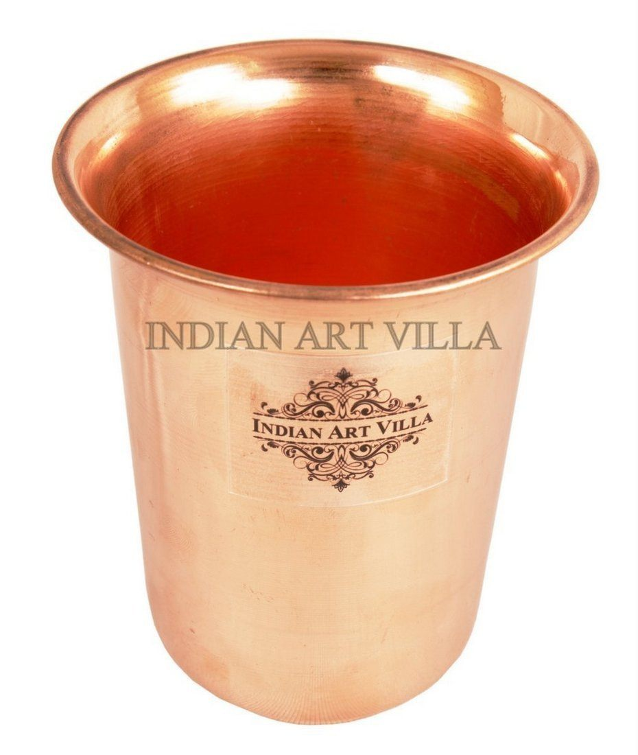 Handmade Pure Copper Glass Goblet Tumbler 10 Oz