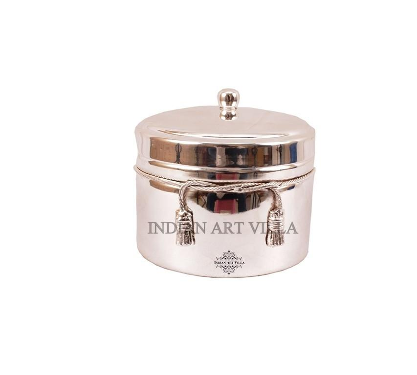 Handmade Silver Plated Box for Gifting Dry fruits