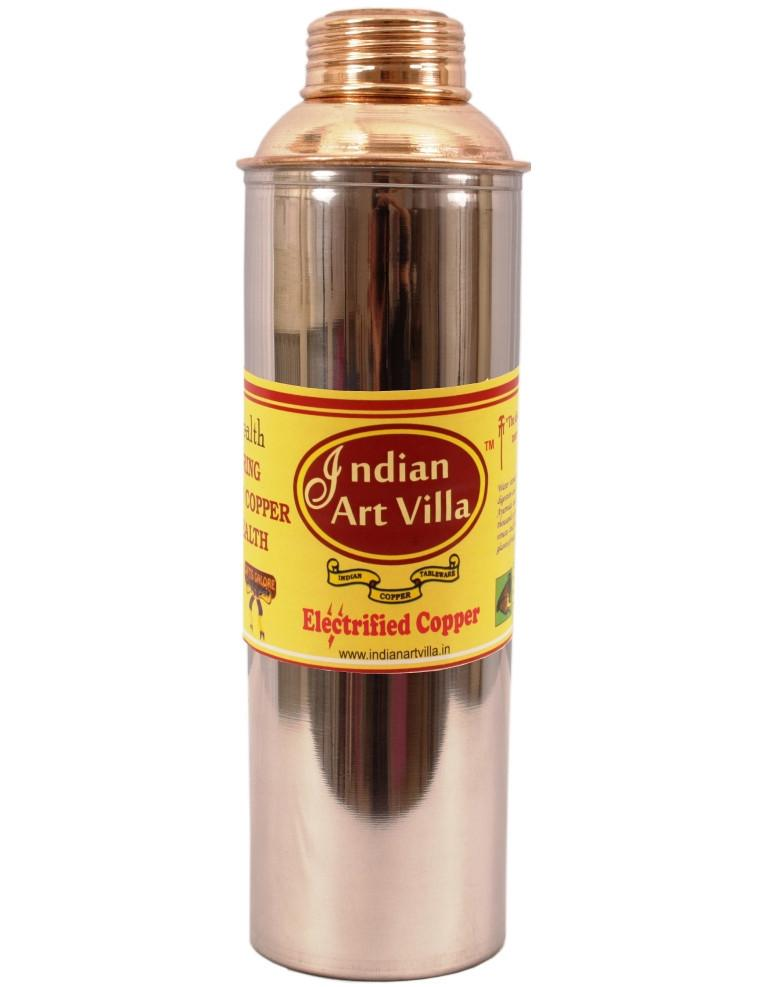 Handmade Steel Copper Bisleri Design Water Bottle 30 Oz