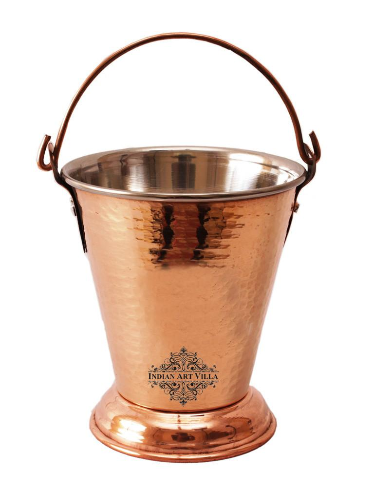Steel Copper Bucket Balti, For Serving Dishes, 18 Oz