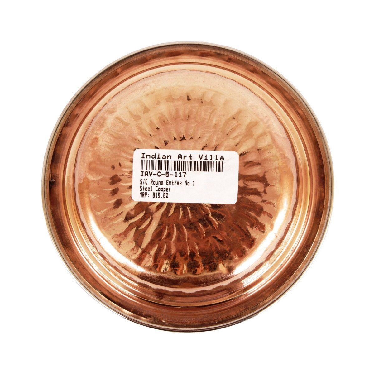 Handmade Steel Copper Entree Bowl for Kitchen Dining