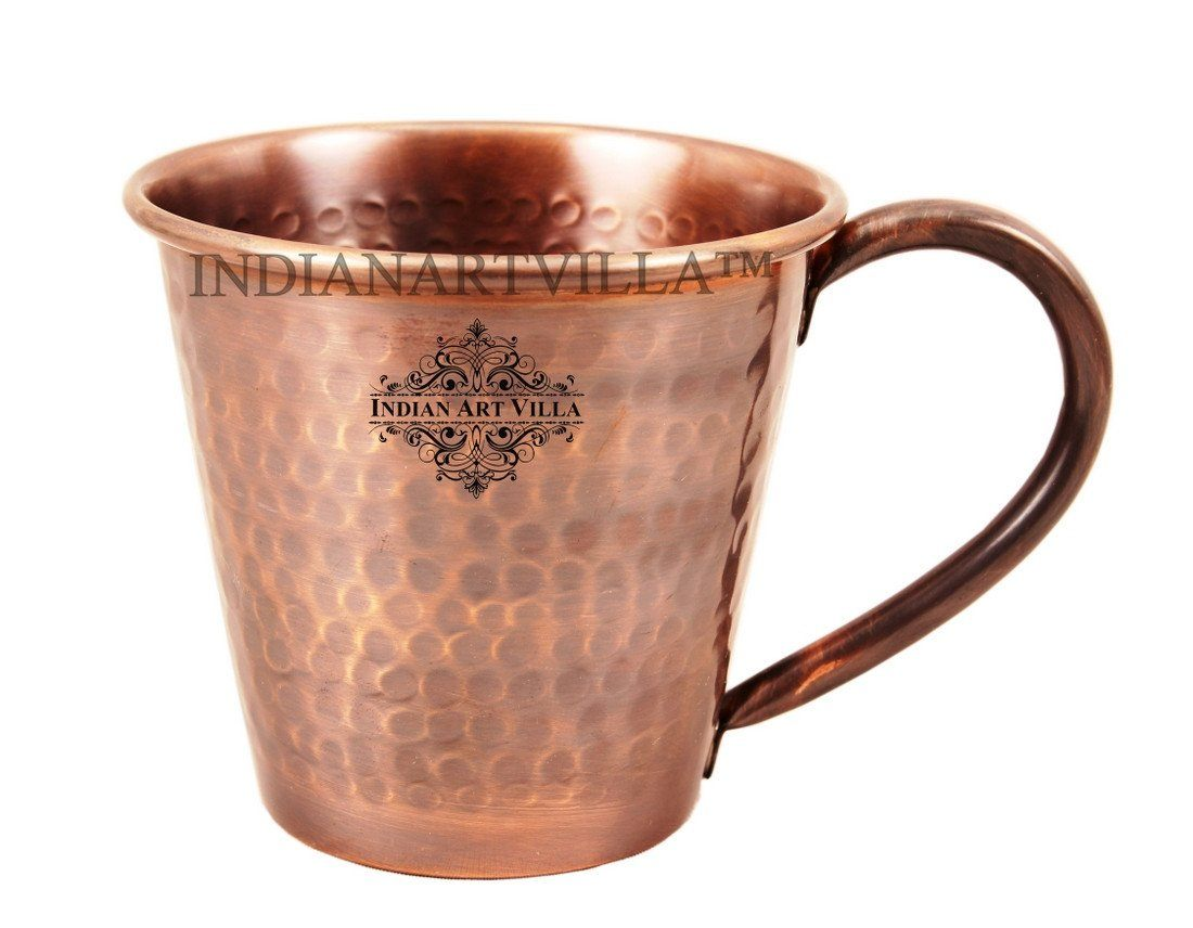 Heart Design Pure Copper Hammered Moscow Mule Mug 13 Oz