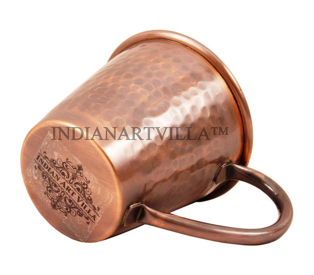 Heart Design Pure Copper Hammered Moscow Mule Mug 13 Oz Beer Mugs Indian Art Villa