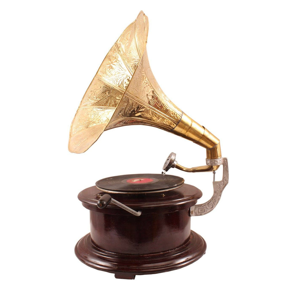 His Master's Voice Round Gramaphone Home Accent HR-1