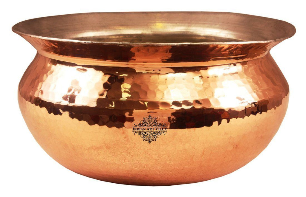 Indian Art Villa Copper Handi with Inside Lining