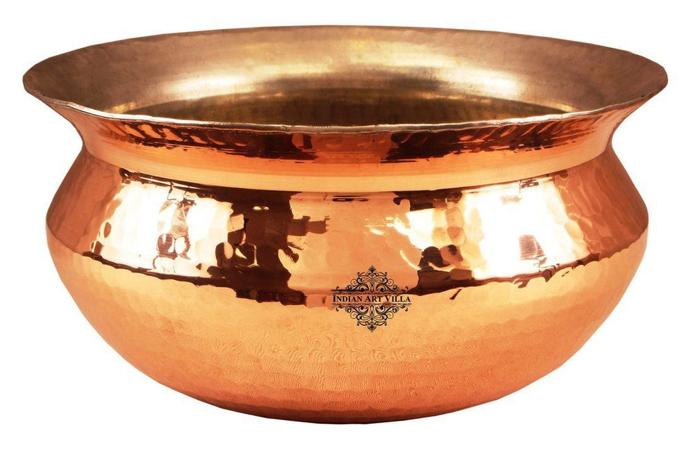 Indian Art Villa Copper Handi with Inside Lining Handi Indian Art Villa 94 Oz
