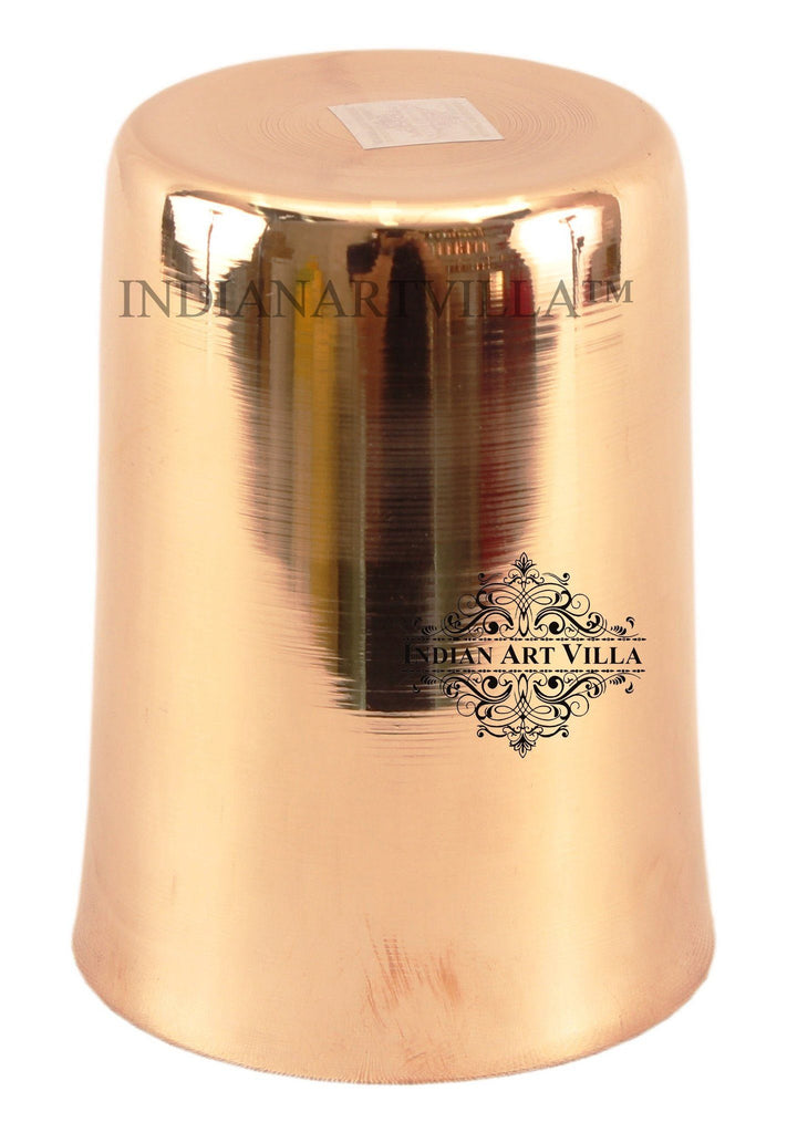 IndianArtVilla Ayurveda Beneficial Bronze Big Plain Glass Bronze Tumblers Indian Art Villa