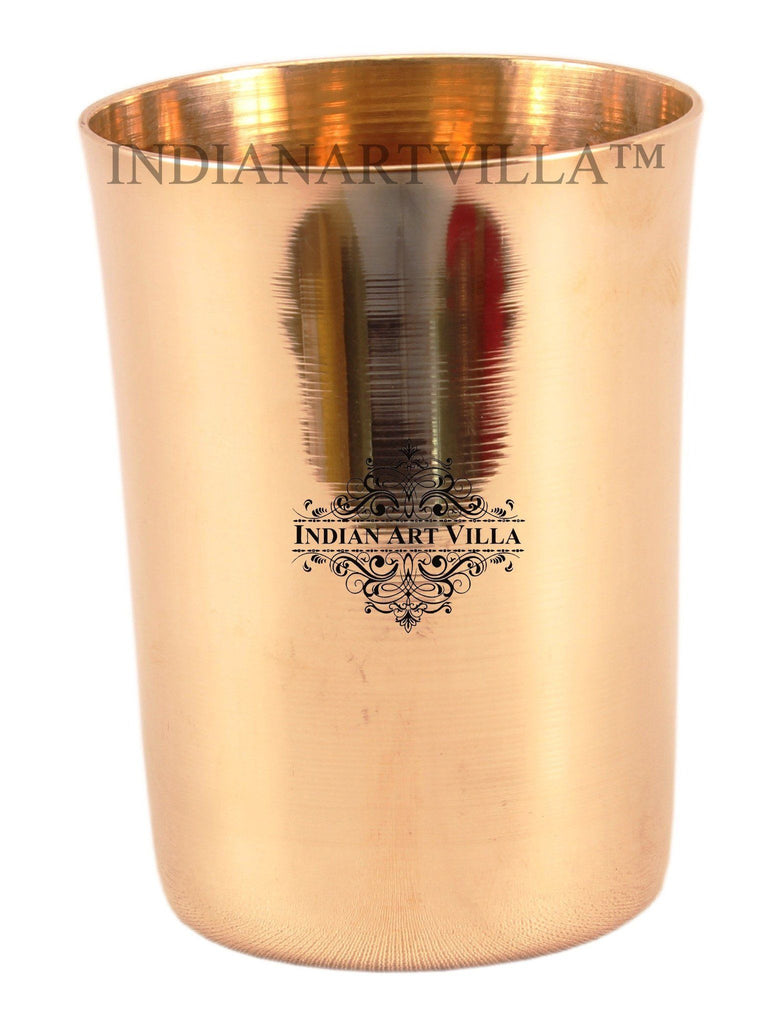 IndianArtVilla Ayurveda Beneficial Bronze Big Plain Glass