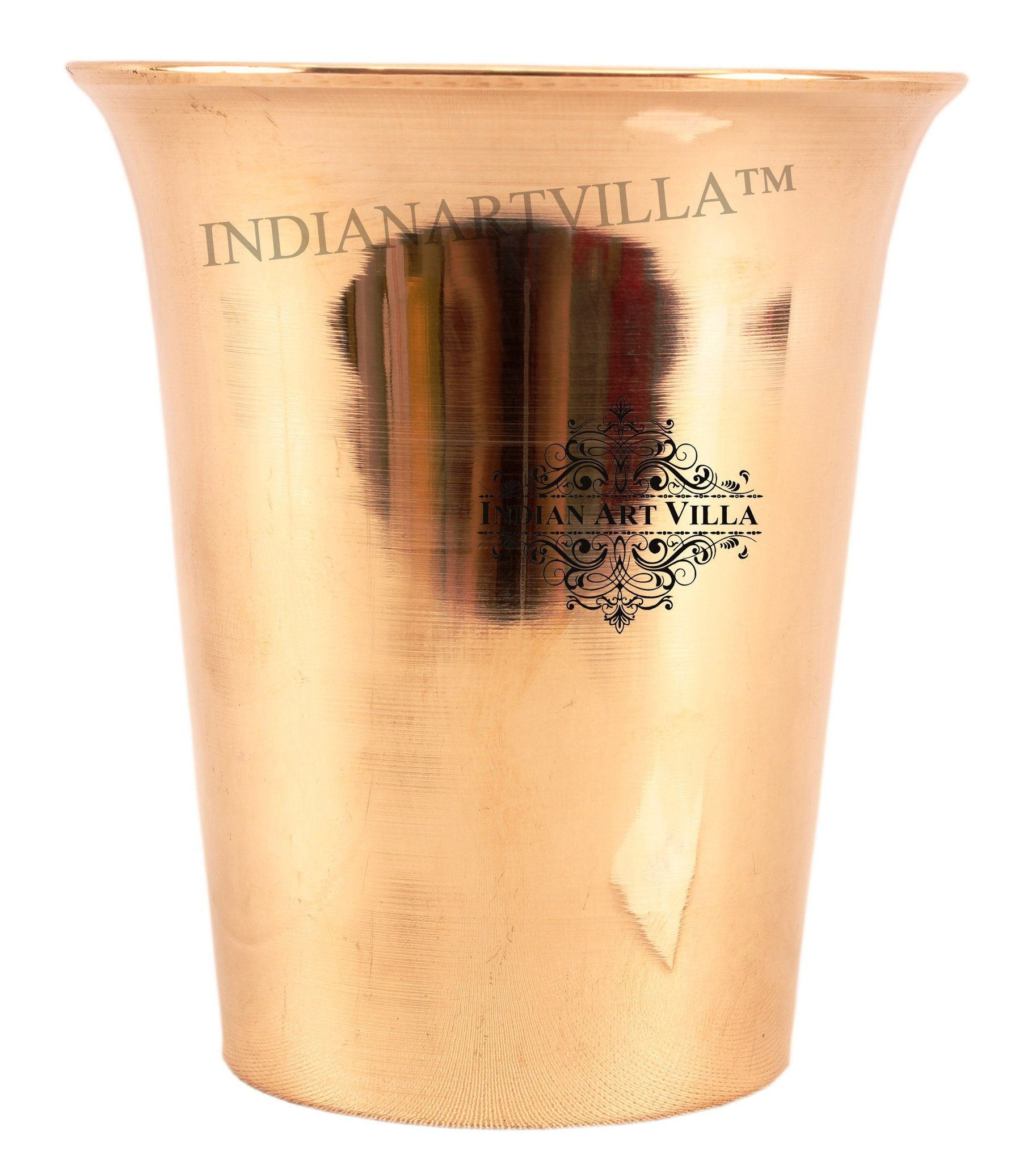 IndianArtVilla Ayurveda Beneficial Bronze Curved Glass