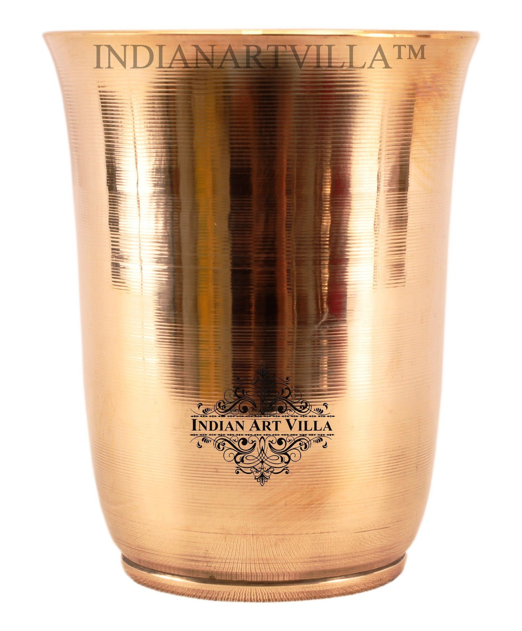 IndianArtVilla Ayurveda Beneficial Bronze Mughlai Design Glass