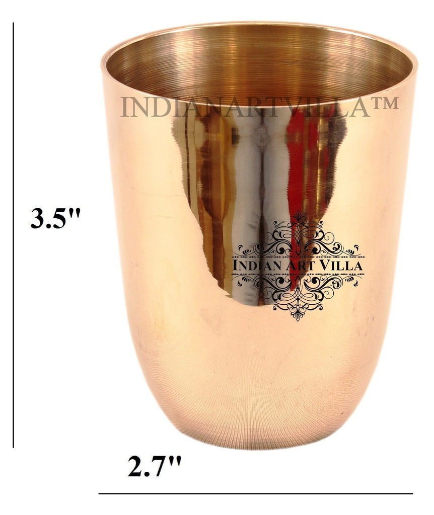 IndianArtVilla Ayurveda Beneficial Glass Bronze Tumblers Indian Art Villa Default Title