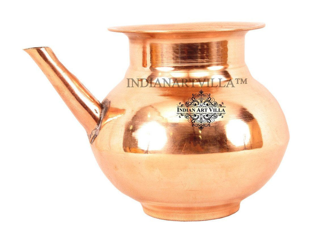 IndianArtVilla Best Quality Pure Copper Ramjhara / Karva Ram Jhara Indian Art Villa