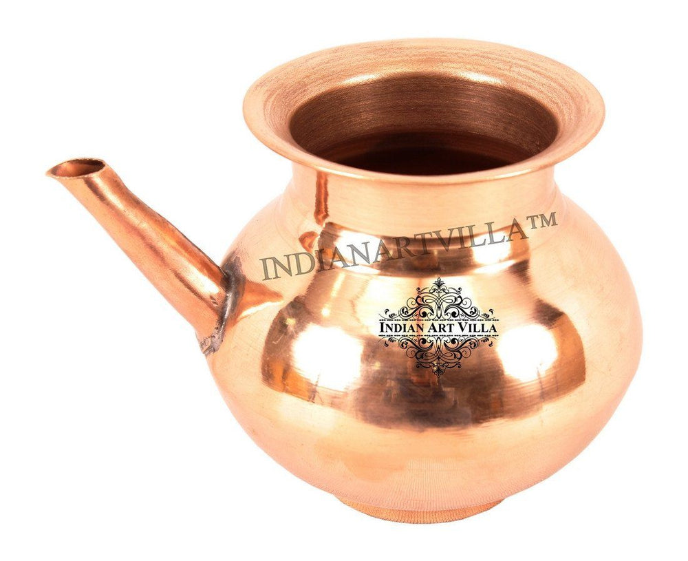 IndianArtVilla Best Quality Pure Copper Ramjhara / Karva Ram Jhara Indian Art Villa Small