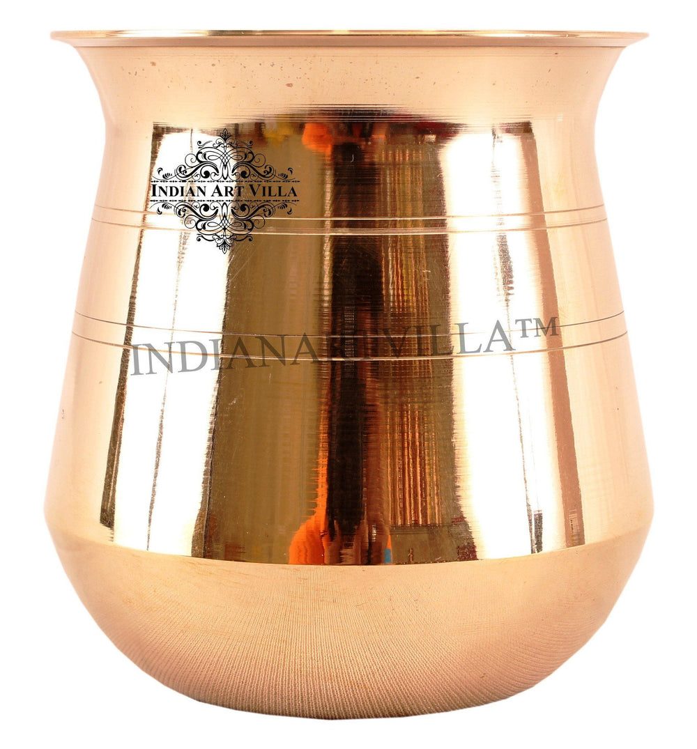 IndianArtVilla Best Quality Small Lining Design Lota Containers Indian Art Villa