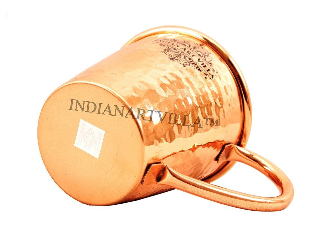 IndianArtVilla Pure Copper Big Top Hammered 13 Oz Moscow Mule Cup