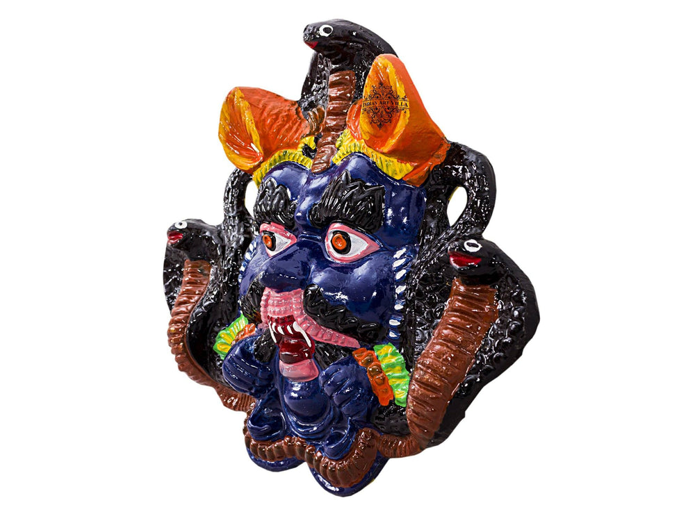 Metal Evil Face Mask Mukhota Nazar Battu|Wall Hanging|Protect home from Bad Vibes Vastu Items V-1