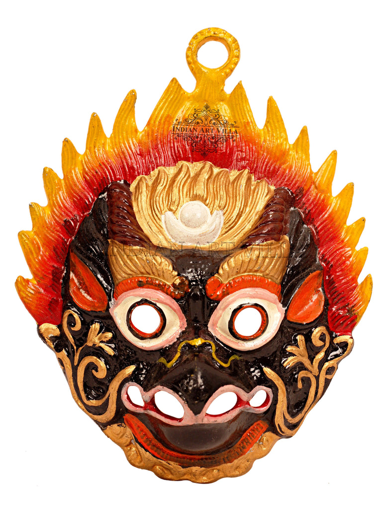 Metal Evil Face Mask Mukhota Nazar Battu|Wall Hanging|Protect home from Bad Vibes