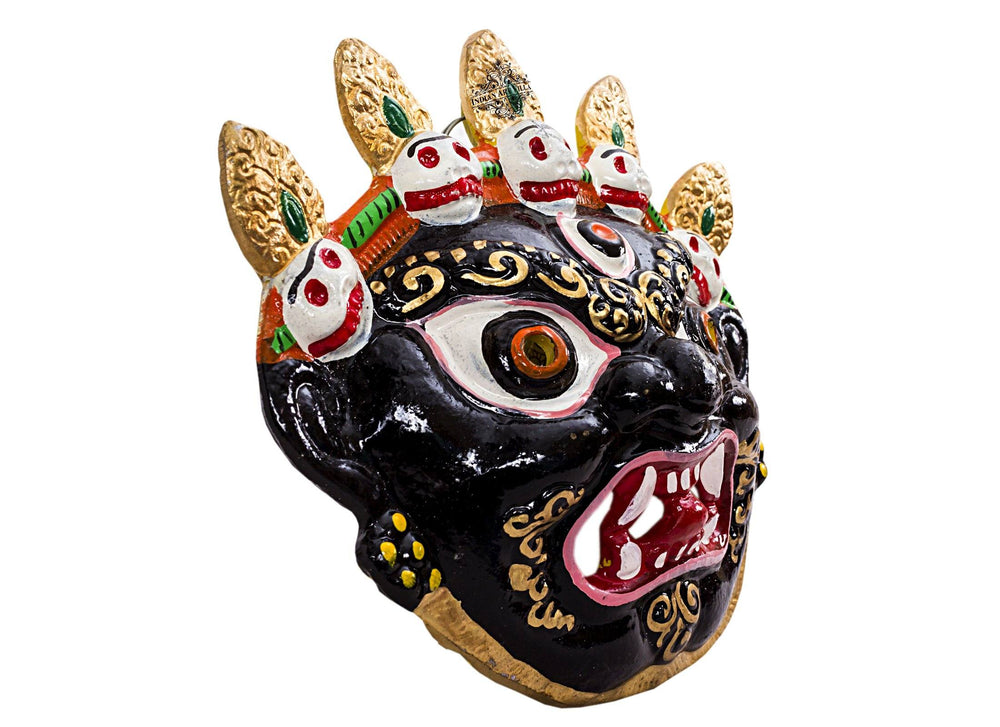 Metal Evil Face Mukhota Mask Nazar Battu|Wall Hanging |Protect Home Office Shops Vastu Items V-1