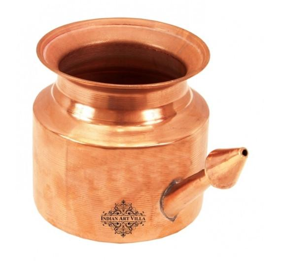 Netipot Pure Copper Ramjhara 11 Oz Neti Pots Indian Art Villa