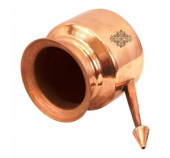 Netipot Pure Copper Handmade Ramjhara Pot 23 Oz for Yoga Ayurveda benefit