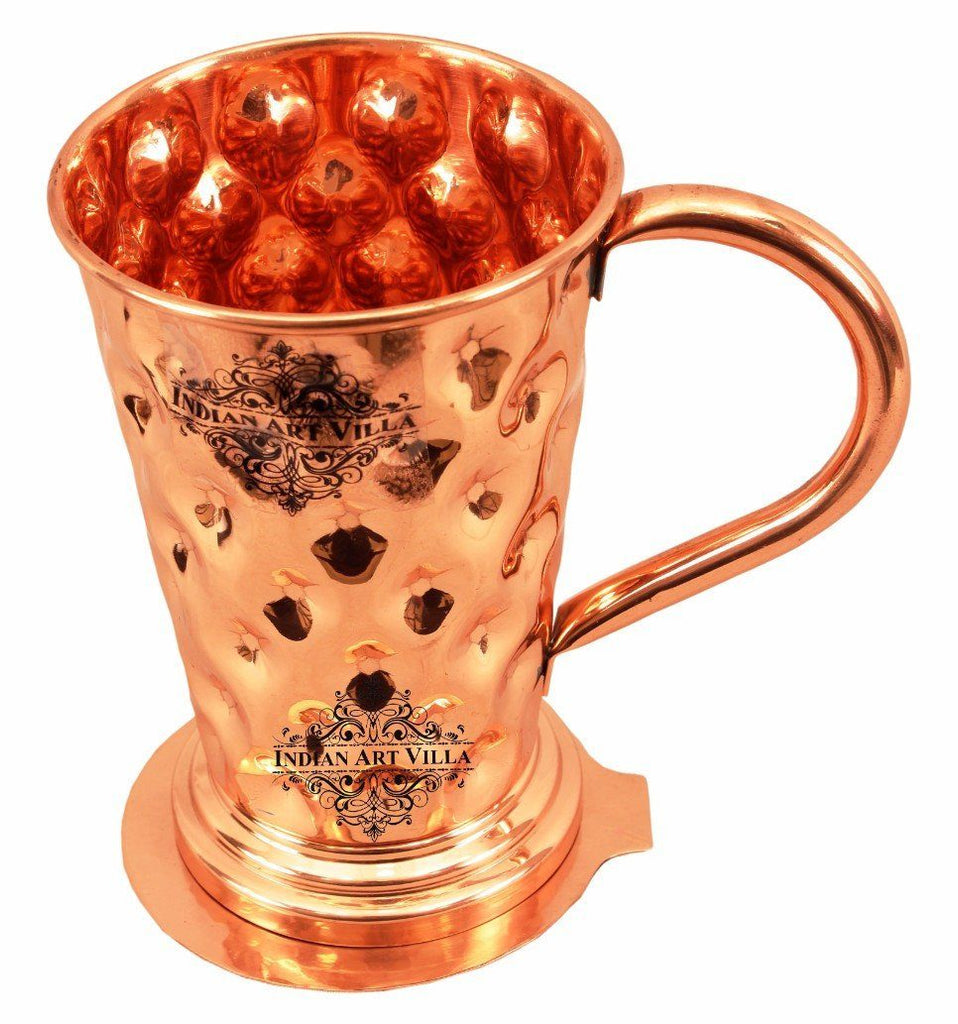 Pure Copper Big diamond Mug Moscow Mule Cup 15 Oz with Coaster
