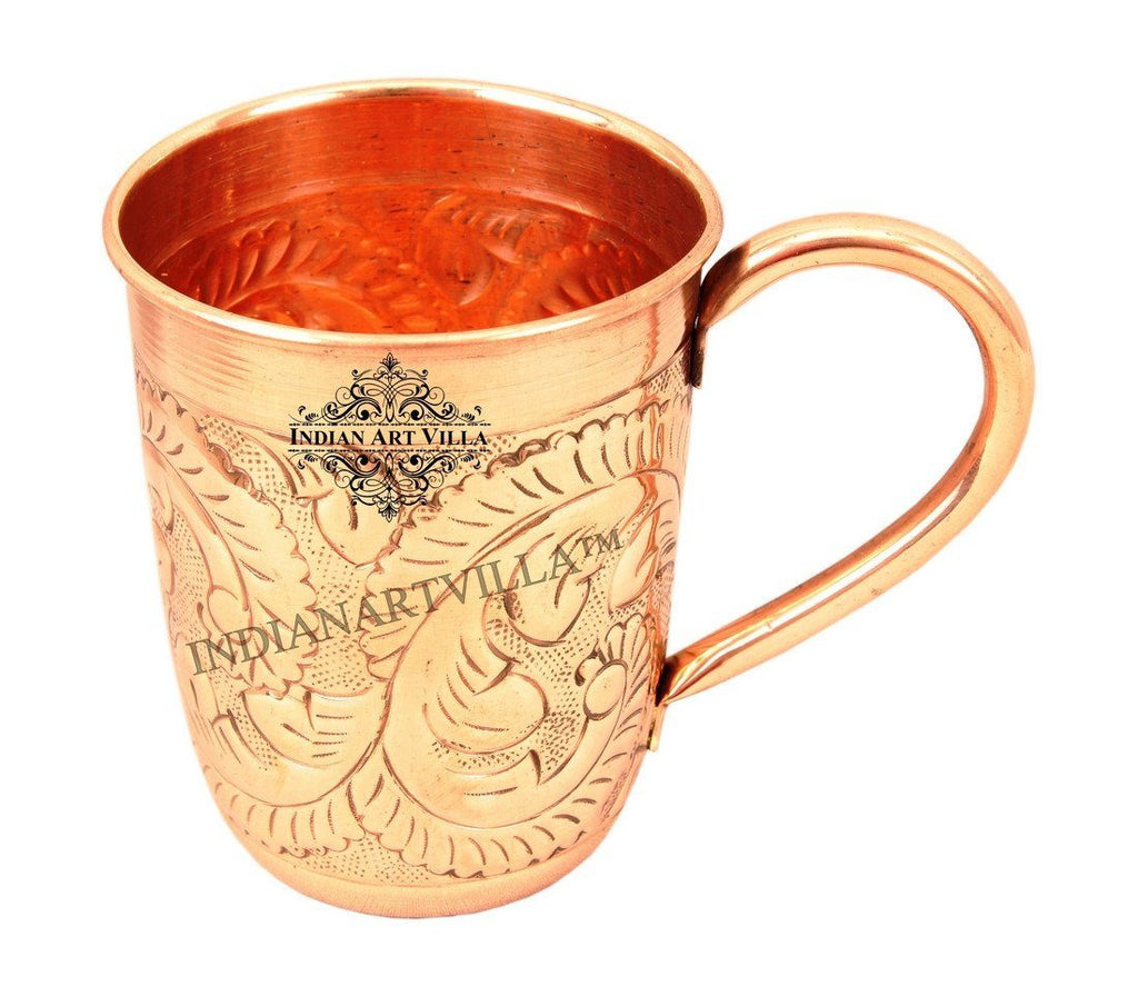 Pure Copper Designer Long Moscow Mule Mug 15 Oz Beer Mugs Indian Art Villa
