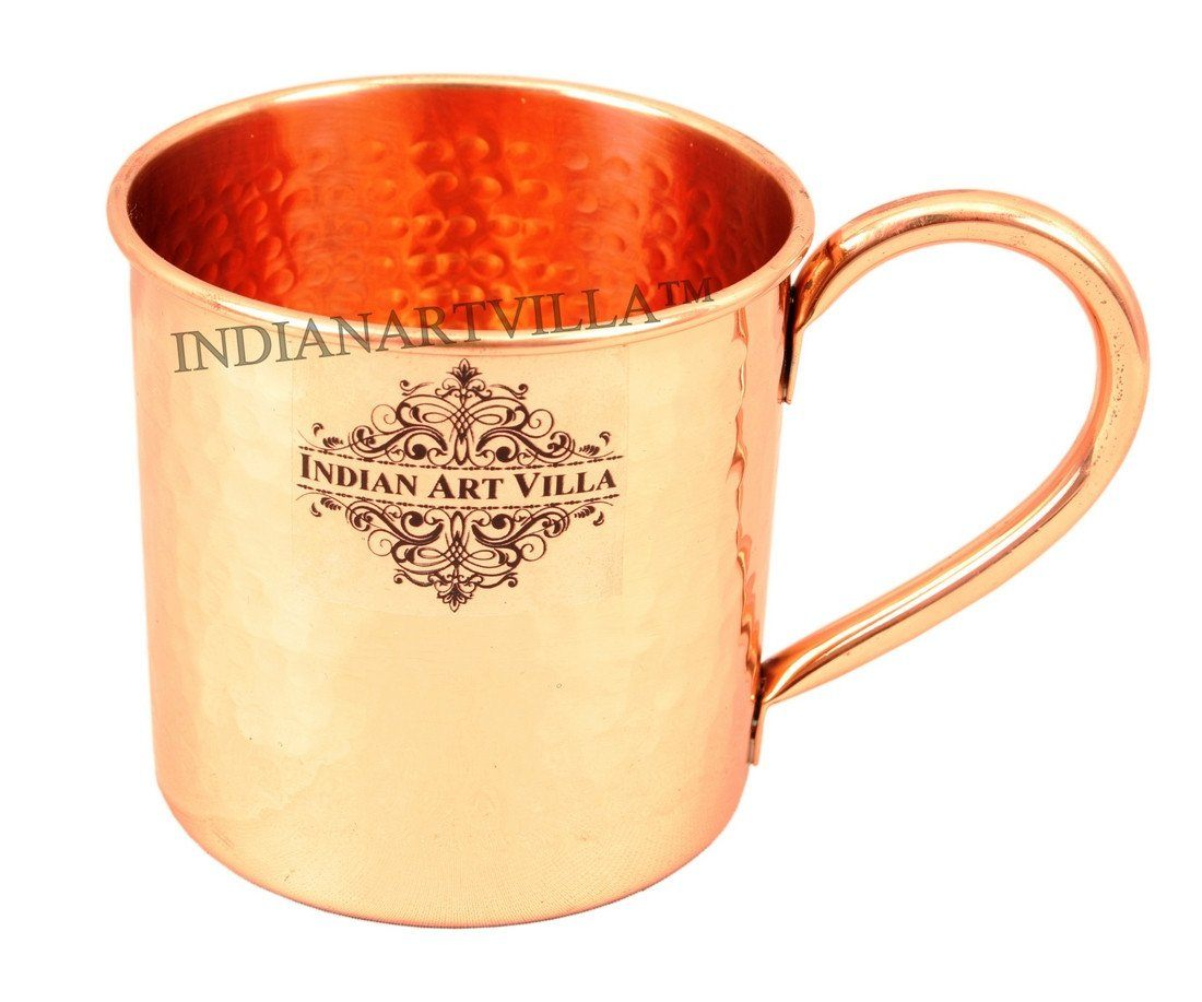 Pure Copper Designer Small Hammered Moscow Mule Mug 16 Oz
