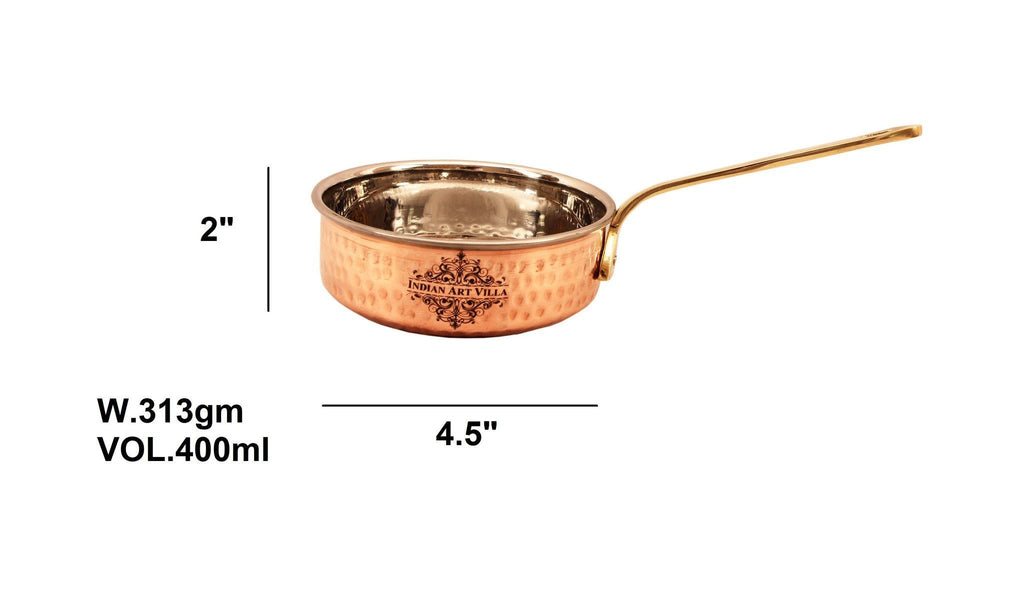 Pure Copper Fry Pan 18 Oz Fry Pan Indian Art Villa 13 Oz