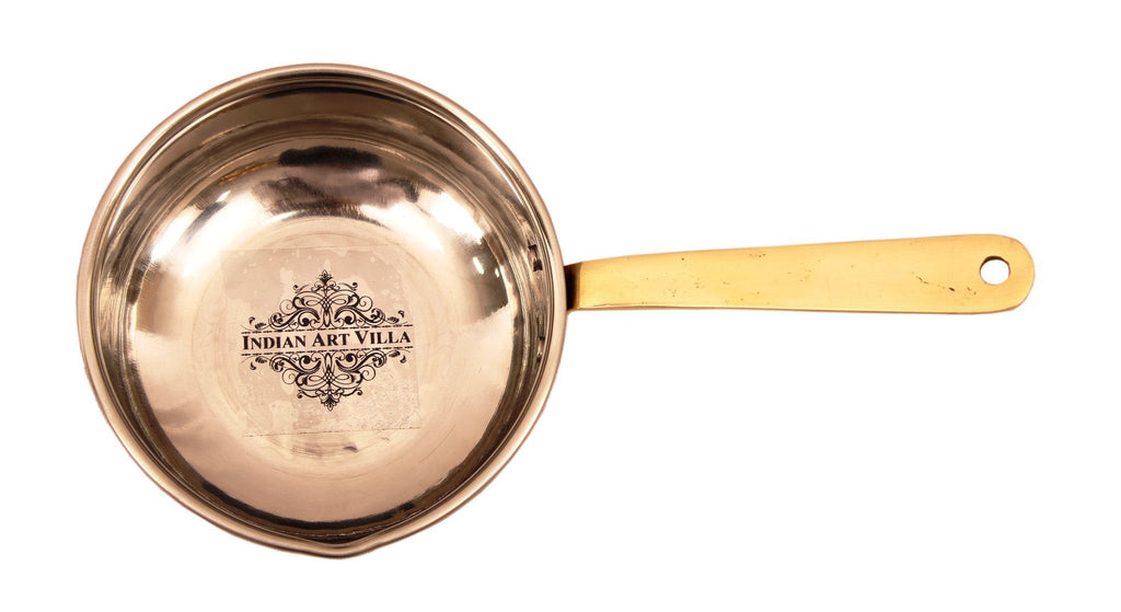 Pure Copper Fry Pan 18 Oz Fry Pan Indian Art Villa