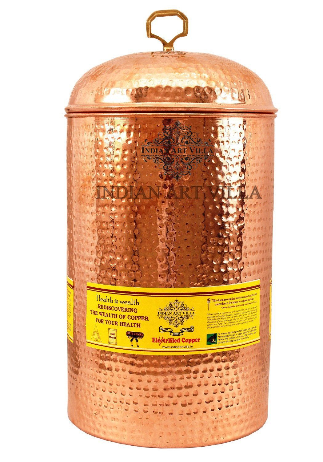 Pure Copper Hammered 405 Oz Storage Pot