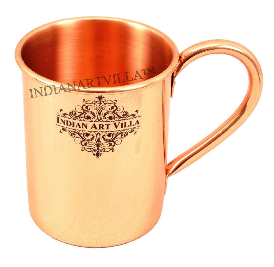 Pure Copper Long Plain Mug Moscow Mule Cup 13 Oz