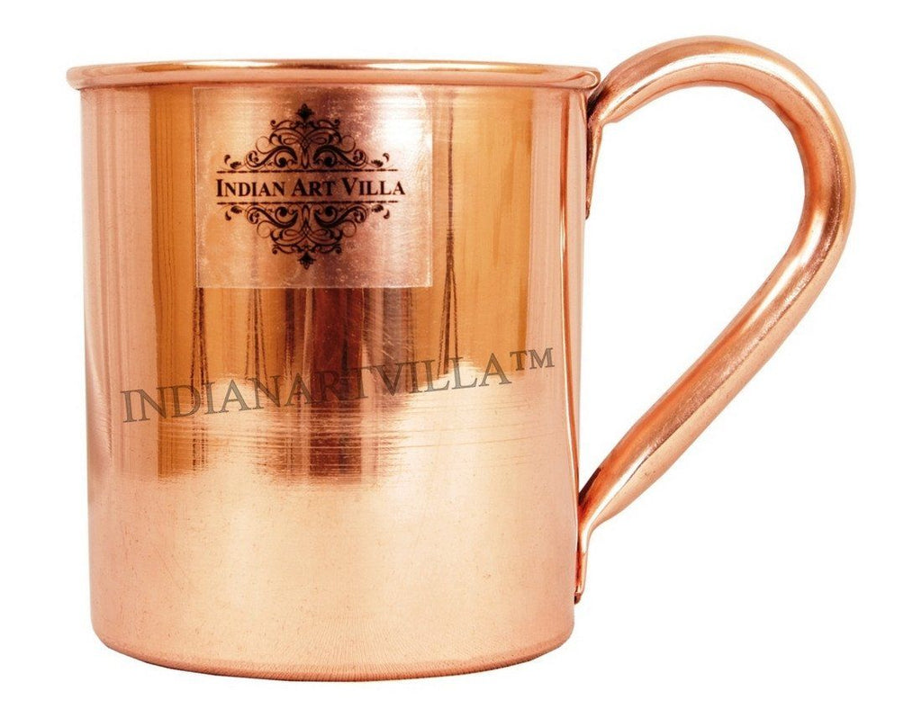 Pure Copper Moscow Mule Beer Mug Cup 14 Oz Beer Mugs Indian Art Villa