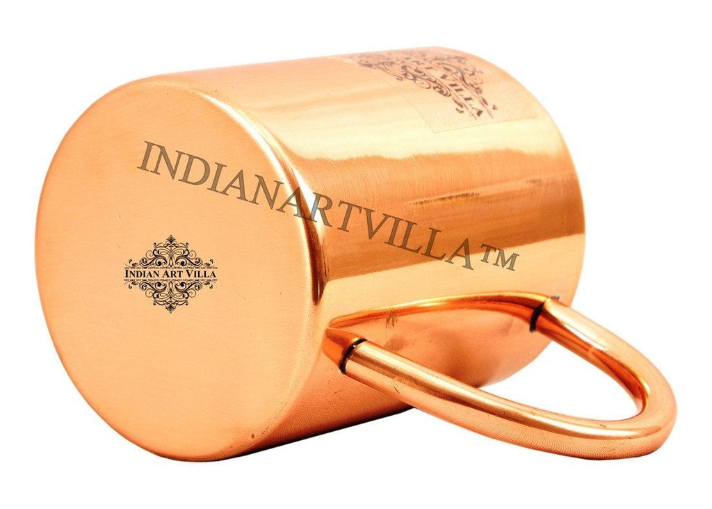 Pure Copper Plain Mug Moscow Mule Cup 11 Oz Beer Mugs Indian Art Villa