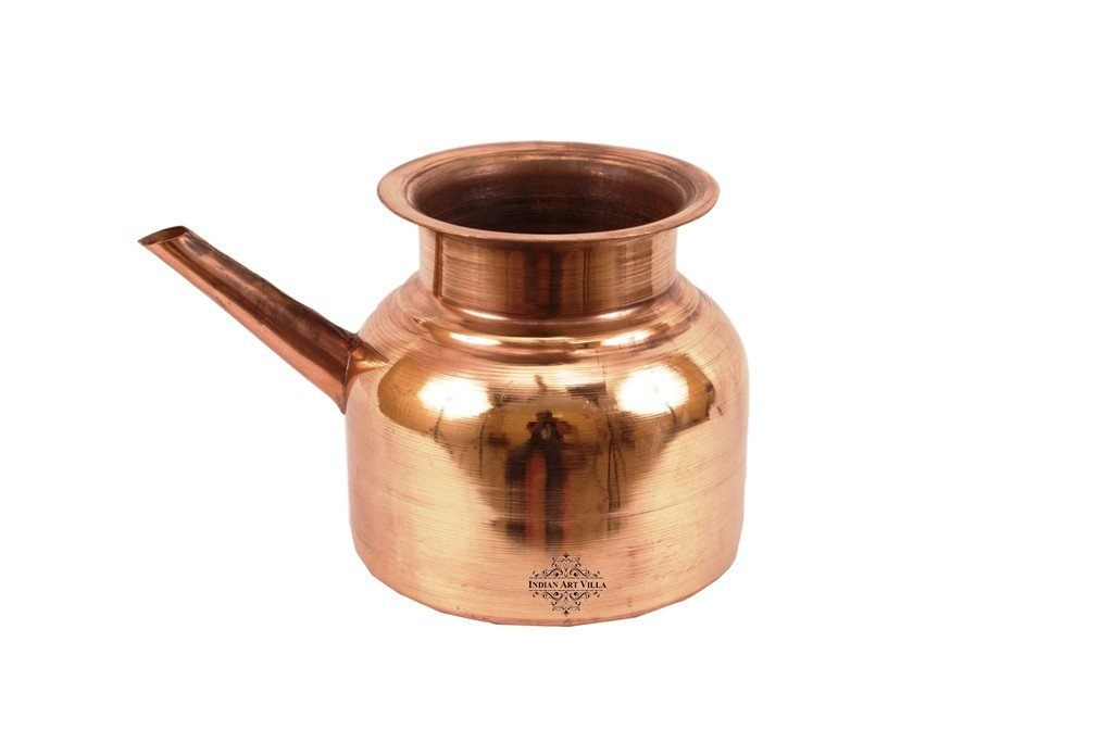 Pure Copper Ram Jhara Pot Good Health - Ayurveda Healing Ram Jhara Indian Art Villa Small