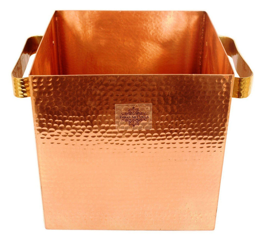 Pure Copper Wine Cooler, Ice Pot Wine Coolers Indian Art Villa