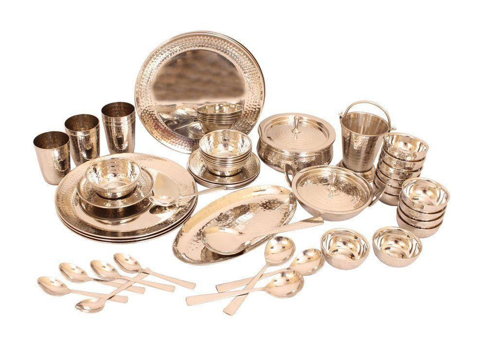 Royal Steel Dinner Set of 52 Pieces