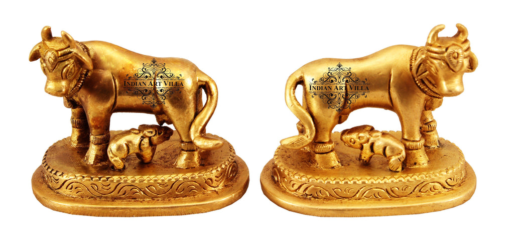 Set of 2 Brass Cow with Calf Home Accent IAV-BB-S-113