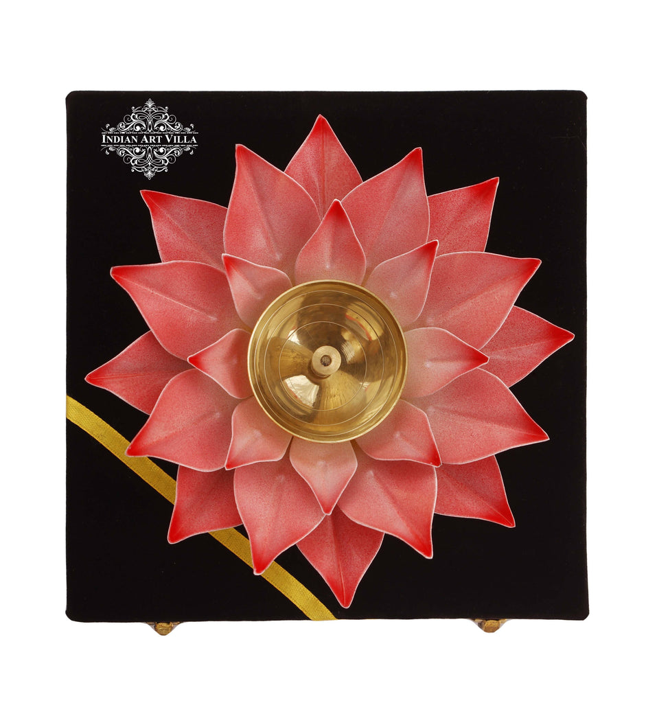 Silver Gold & Copper Plated Lotus Design Diya Deepak Candle Stand IAV-SP-3-176-