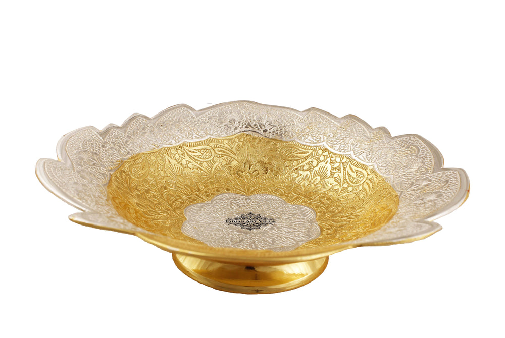 Silver Plated & Gold Plated Angoori Bowl, 9'' Inch Silver Plated Bowls IAV-SP-3-183-