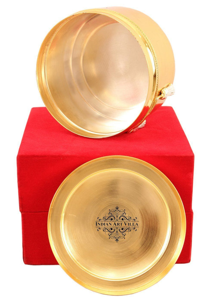 Silver Plated Gold Polish Dry Fruit Box Silver Plated Decorative Boxes Indian Art Villa