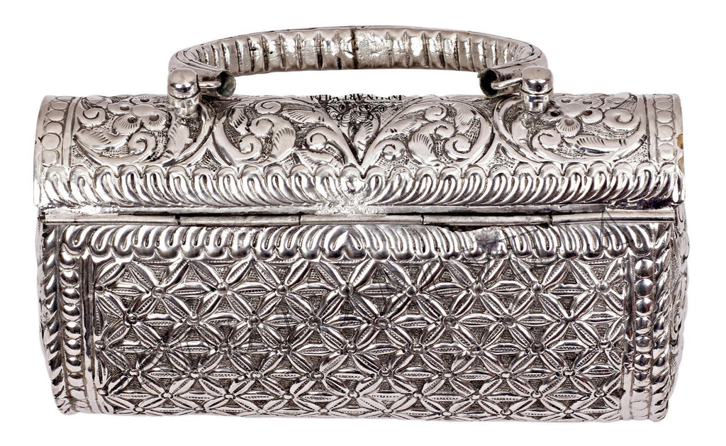 Silver Plated Handbag Purse, Women Wedding Clutches, Gift Item Accessories HR-6