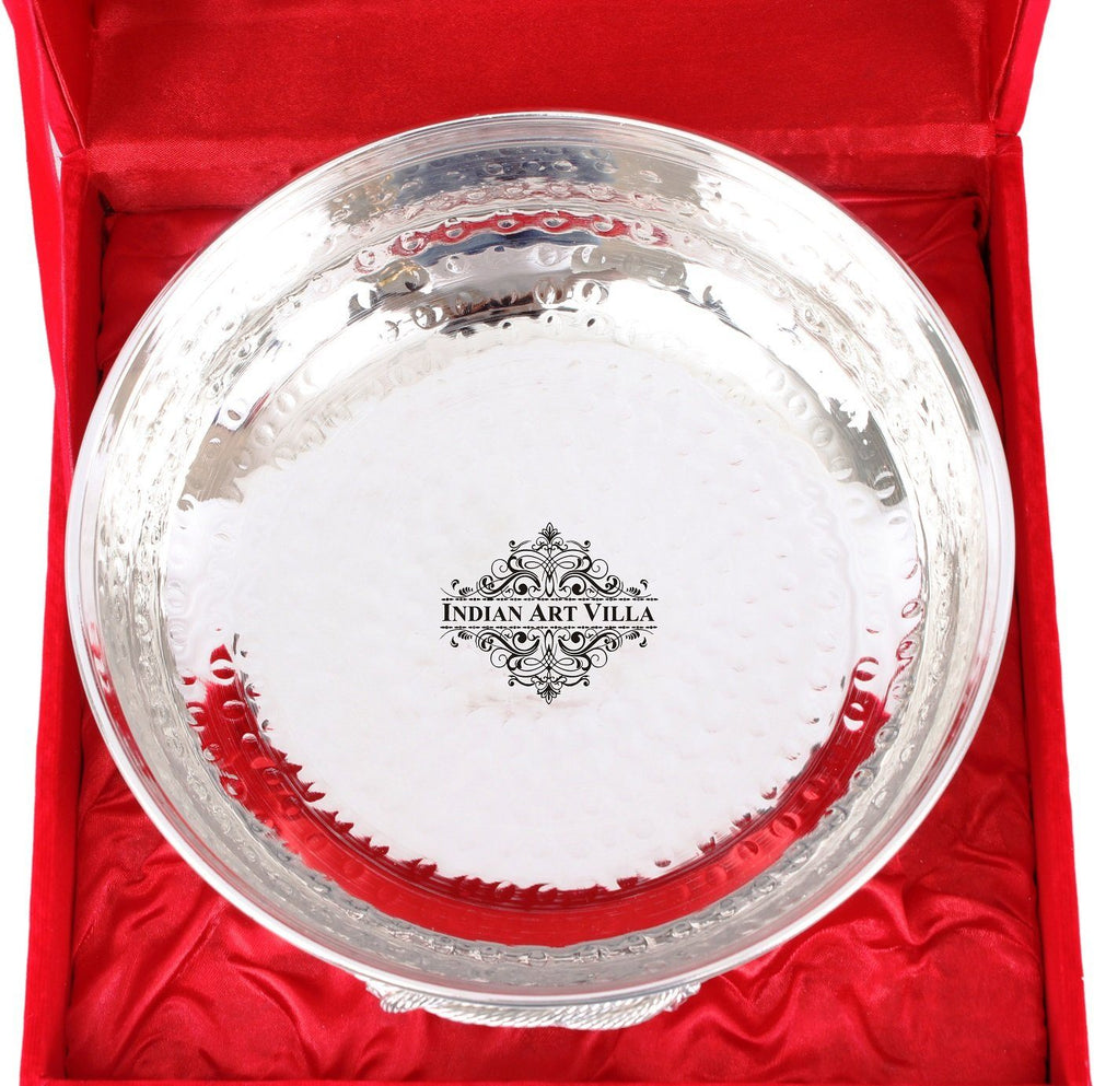 Silver Plated Handmade M Design Bowl - Decorative Centerpiece Tableware Silver Plated Bowls SP-3