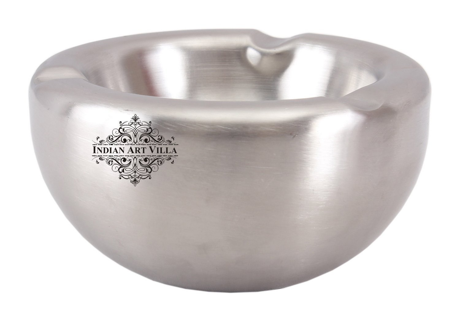 Solid Steel Matt Finish Ash Tray 3 Cigerate Holder