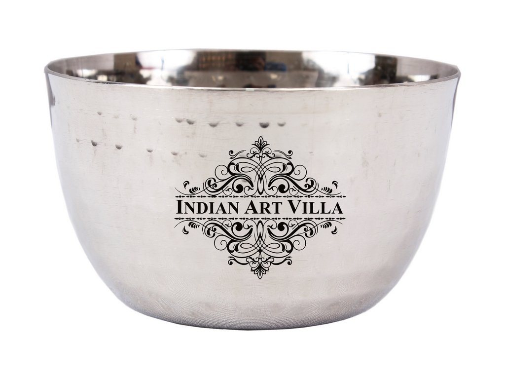 Stainless Steel Bowl 6 Oz - Serving Dal Curry Vegetable Dinnerware Steel Bowls Indian Art Villa