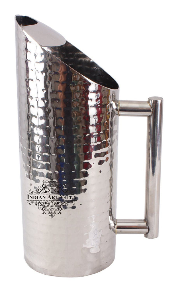 Stainless Steel Hammered Jug Pitcher | Volume 50 Oz