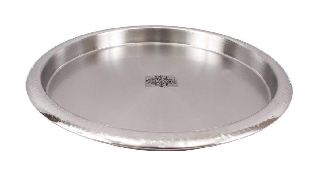 Stainless Steel Hammered Plate Thali