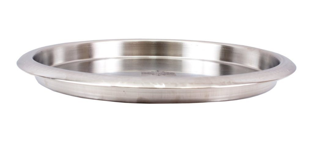Stainless Steel Hammered Plate Thali Plates Indian Art Villa