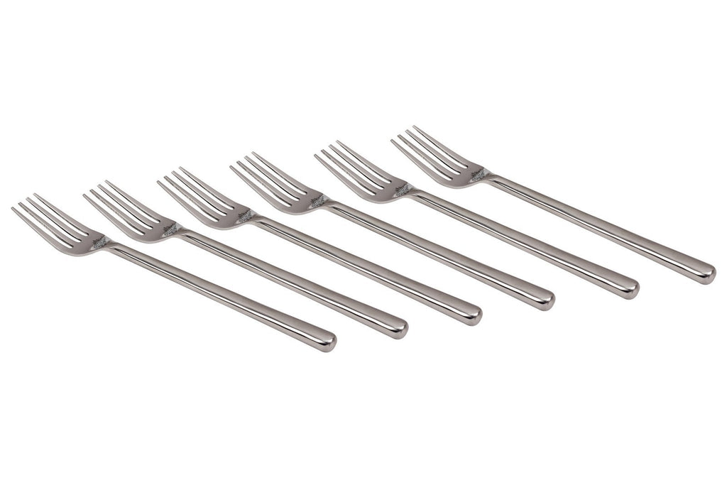 Stainless Steel New Smooth Design Fork Cutlery Set -8.2'' Inch Forks SS-8 6 Pieces