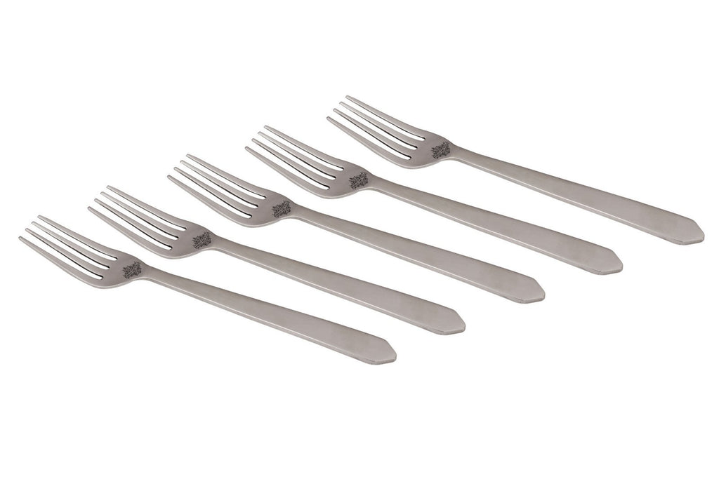 Stainless Steel New Style Triangle Edge Matt finish Desert Fork Cutlery Set -7.5'' Inch Forks SS-8 6 Pieces