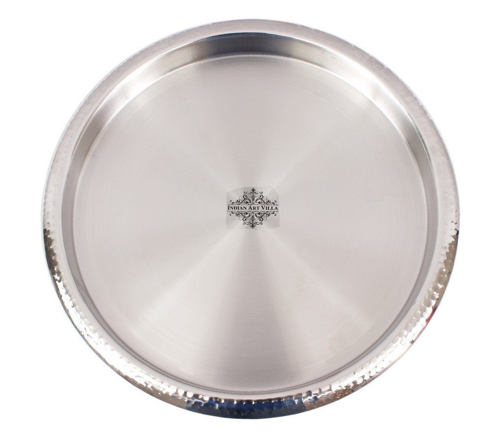 Stainless Steel Round Serving Bar Tray